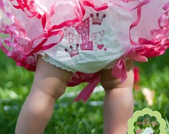 Hot pink Party  Princess Bloomer Personalized for your child (634)
