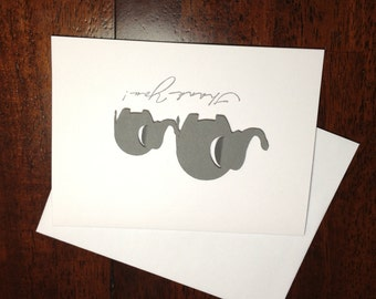 Gray Elephant Thank You Cards - Gender Neutral Baby Shower Thank You Cards - Elephant Stationery - Mom and Baby Elephant Thank You
