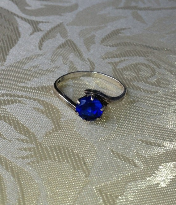 signed antique 1.25ct kashmir sapphire sterling by ...