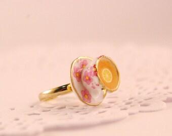 tea cup ring - food jewelry