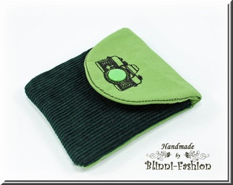 bag for camera accessories and lens cap, green
