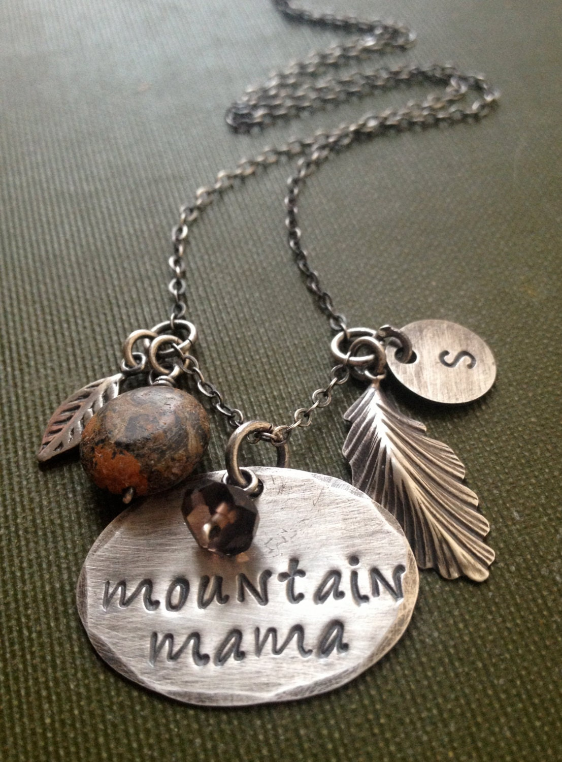 mountain mama necklace west virginia jewelry charm necklace. Black Bedroom Furniture Sets. Home Design Ideas