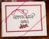 I Appreciate You Cards - Package of 8