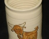 Hand-Painted Farm Animal Tumblers