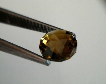 Golden Yellow Honey Brown (Dravite) Tourmoline Round Cut - 6 mm - .89 ct