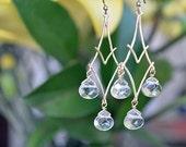 Zion Earrings in Crystal Glass Quartz.