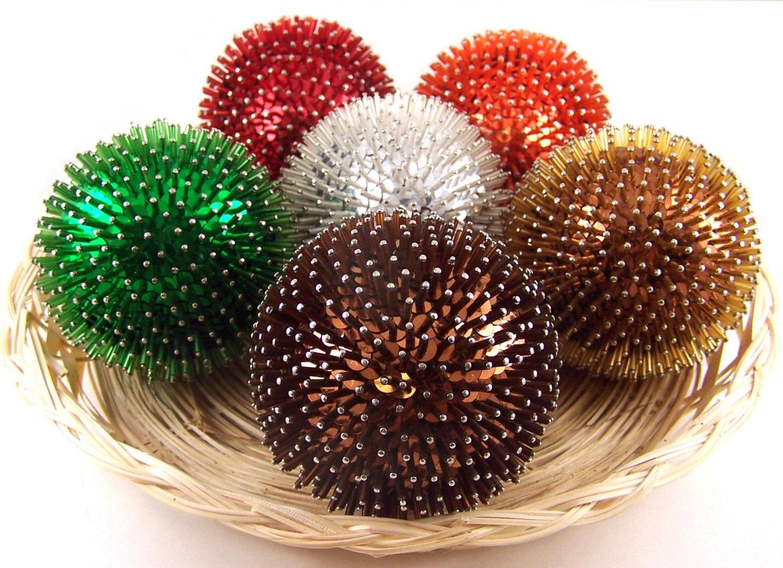Foam ball craft - Decorative Balls Pins Bugle Beads Ball Sequin Balls Decorative Styrofoam Ball