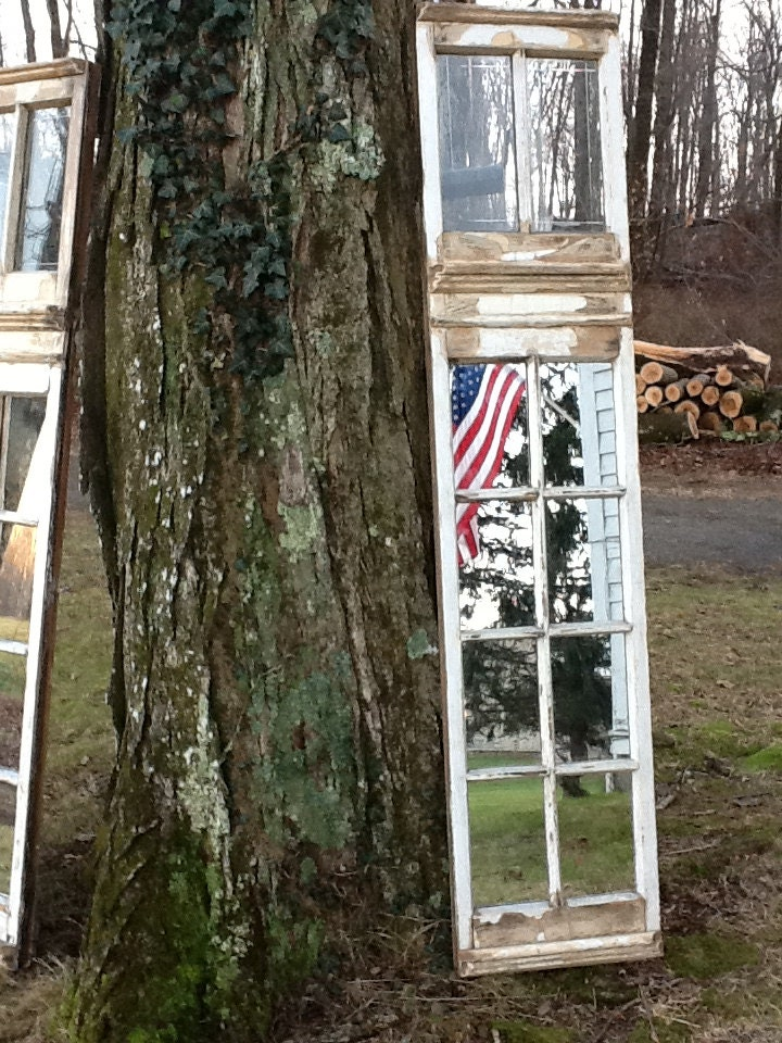 Vintage Restored Window Panels Mirrors Installed Lower