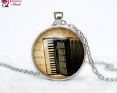 Accordion necklace Accordion pendant Accordion jewelry Music necklace Hipster jewelry