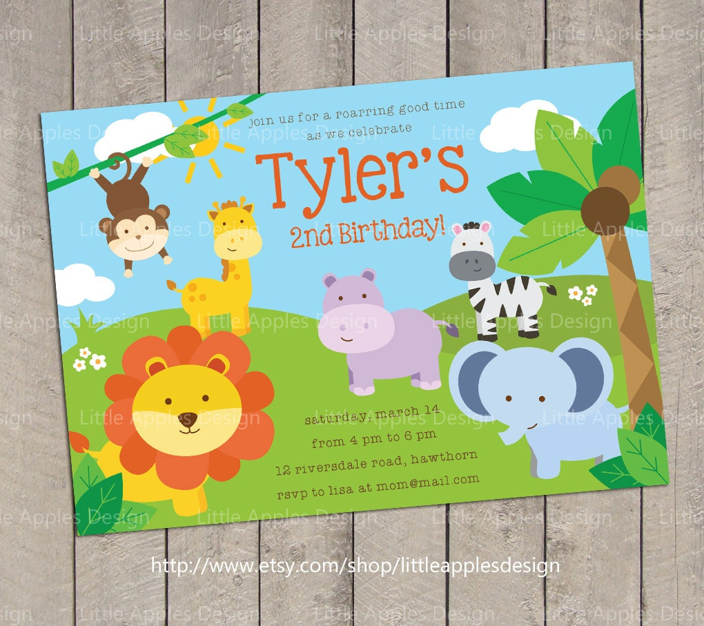 Safari Invitation / Safari Birthday Invitation / Jungle Safari