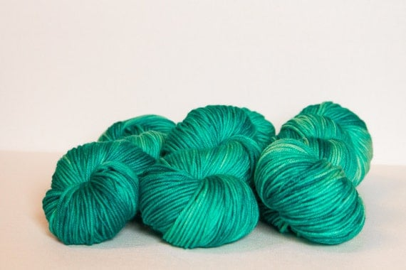 "Hand Dyed Yarn-DK weight MCN-""Glacier"""