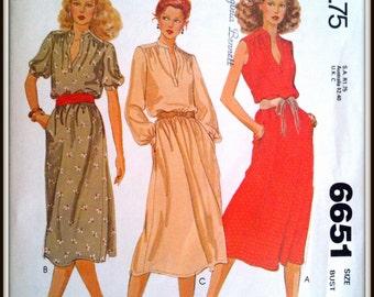 McCalls  6651  Misses' And Women's Dress  Size  14  Uncut
