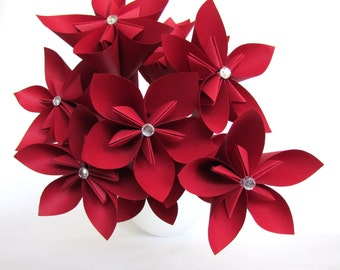 Red Origami Bouquet - Paper Flower Bouquet
