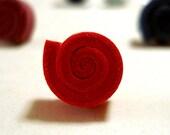 Coll. Happy Valentine - Rose Moosgummi earrings - handmade