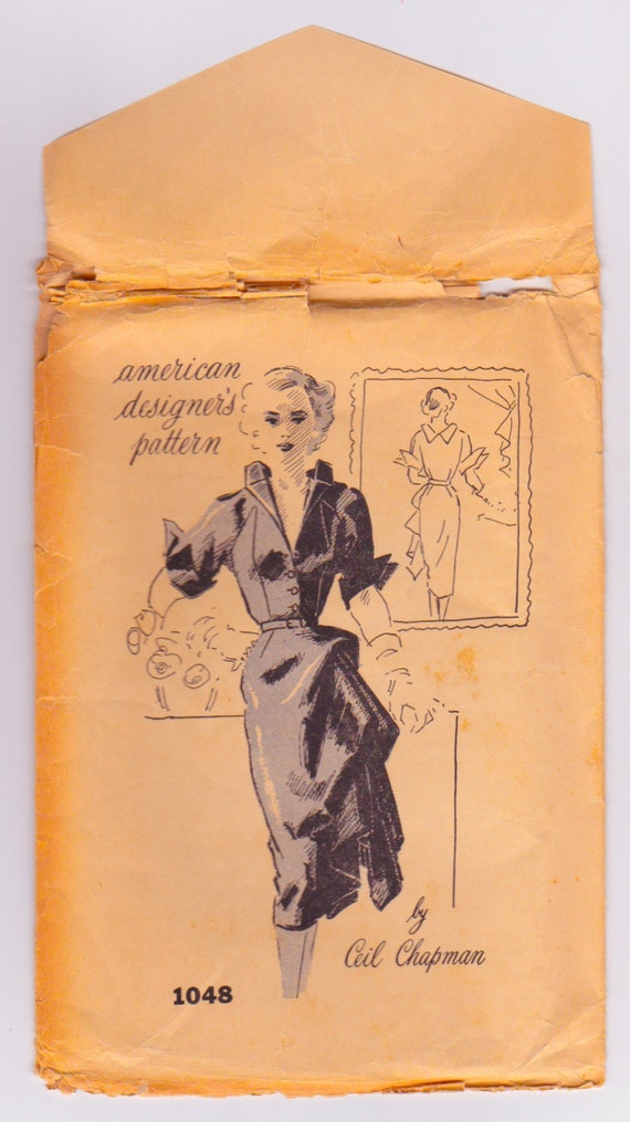 Ceil Chapman For American Designer Patterns 1048 Vintage Dress