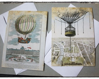 postcards  set of 2  - incl. envelopes