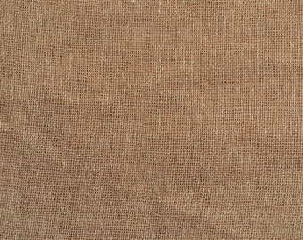 Beige Burlap Fabric - Quarter Yard fabric - 100 percent natural burlap - Jute - Hessian-we take wholesale fabric orders-Quarter Yard