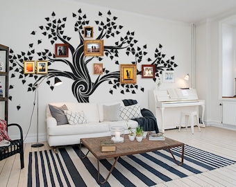 Large Wall Decals   Living Room Tree Decal   Custom Wall Art   Family Tree  Decal