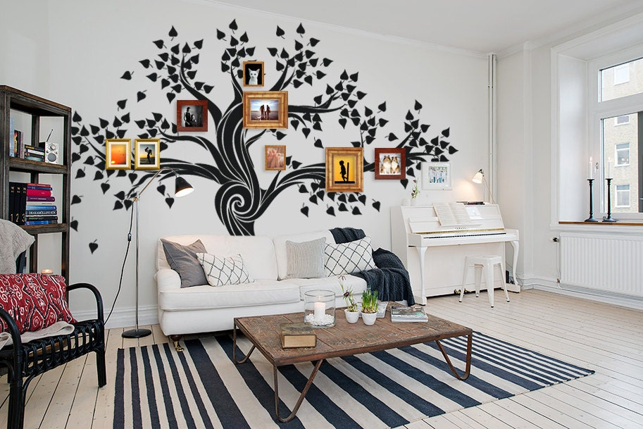 Large Wall Decals Living Room Tree Decal Custom Wall Art