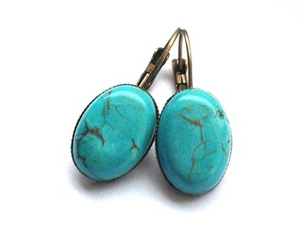 earrings sound of the sea turquoise