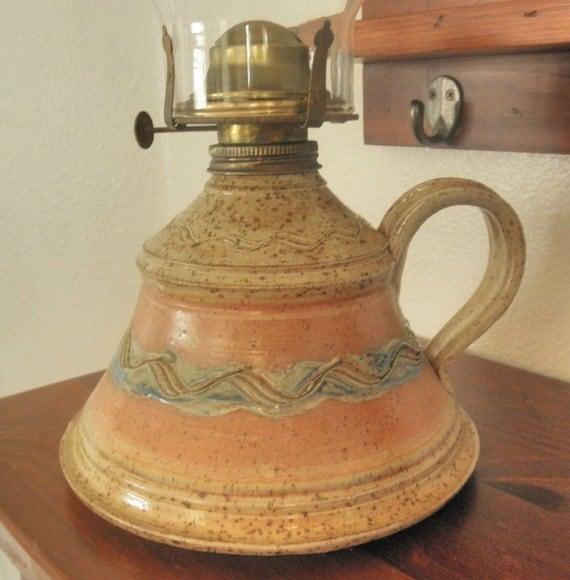 Handmade Ceramic Oil Lamps : Ceramic pottery oil lamp base by junkin joy on etsy