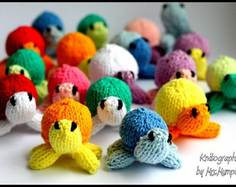 Mini turtles Knitting pattern PDF for beginners and advanced knitters. perfect DIY spring decoration
