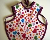Handmade baby bib / apron (bapron)