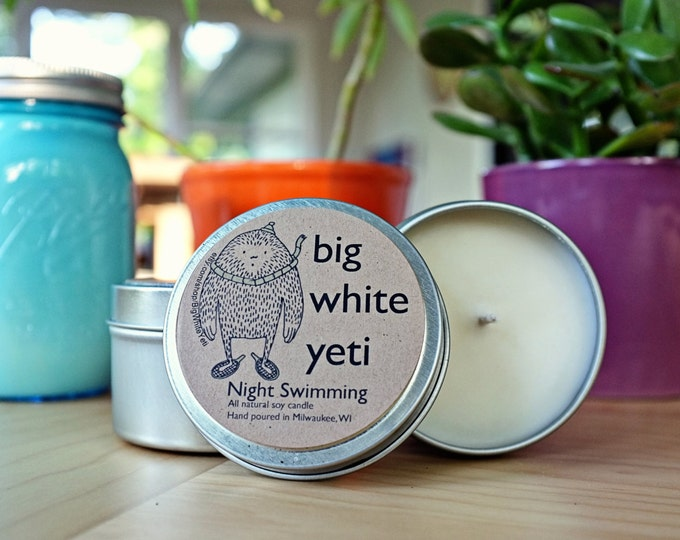 Night Swimming Soy Candle- 6 Ounce Tin