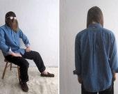 VTG 90s Tommy Hilfiger Denim Button Up - Men's Oxford Style Jean Shirt