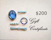 Gift Certificate- 200 dollars- For anything your heart desires by CIAO SPOSA
