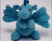 PATTERN: Darby the Dragon amigurumi // cute animal crochet pattern // Instant Download