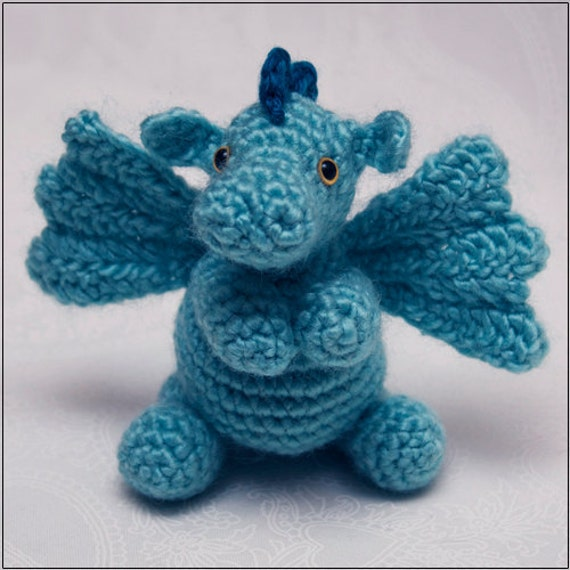 Crochet Patterns Dragon : PATTERN: Darby the Dragon amigurumi // cute animal crochet pattern ...