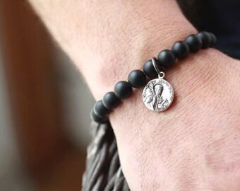 Saint Benedict Bracelet - Mens Bracelets - Beaded men Bracelet
