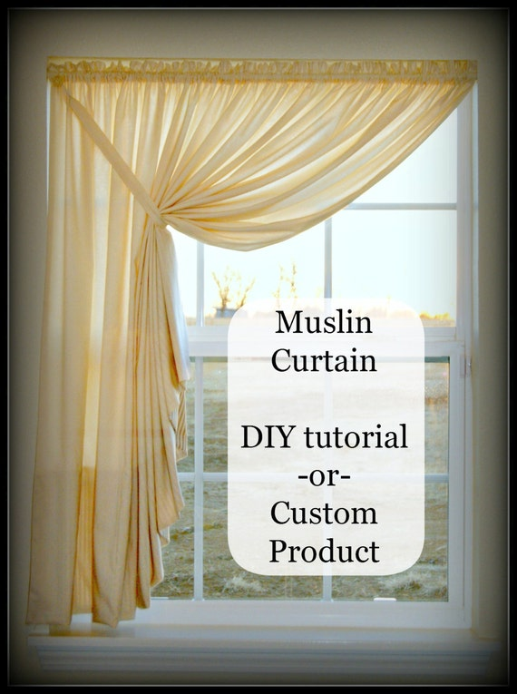 Items Similar To Easy Diy Pattern Tutorial For Muslin Swag