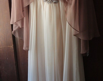 Vintage Emma Domb Chiffon Gown