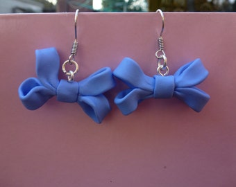 Pretty Feminine Bow Dangle Earrings