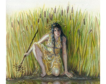 The Water Thief - LIMITED EDITION PRINT- Watercolor and Gouache - A3 Giclee Print