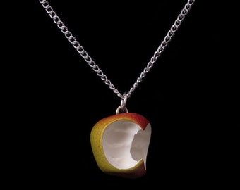 Apple With Two Bites Necklace