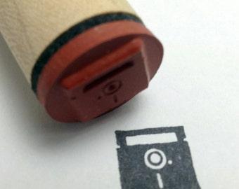 Retro Computer Floppy Disk Rubber Stamp disc diskette