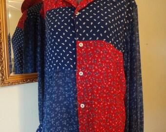 Liz Claiborne Patchwork shirt
