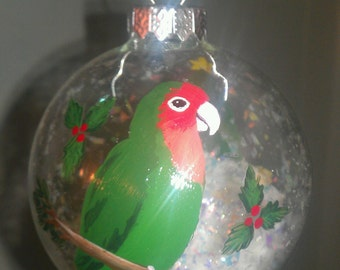 Love Bird ornament hand painted