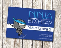 Ninja Birthday Invitation - Printable and Personalised
