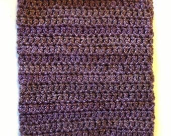 Plain Purple baby cocoon and hat