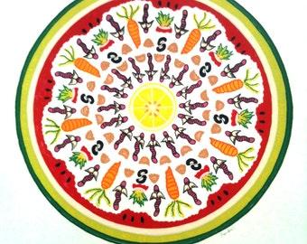 "Compost Mandala - Serigraph 15""x15"""