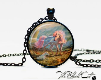 Unicorn pendant Unicorn necklace Unicorn jewelry fantasy style art gift (PU0003)