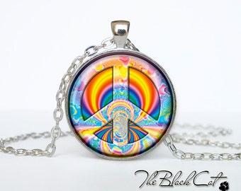 Hippie necklace Hippie pendant Hippie jewelry peace necklace peace jewelry peace pendant gift