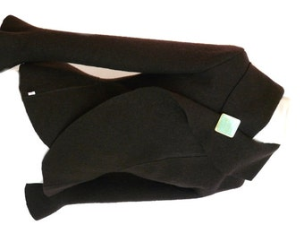 Boiled wool coat | Etsy