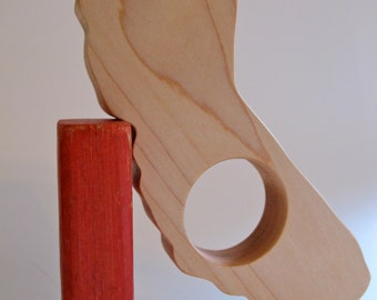 Wood Toy -  California State Teether - organic, safe and natural for baby