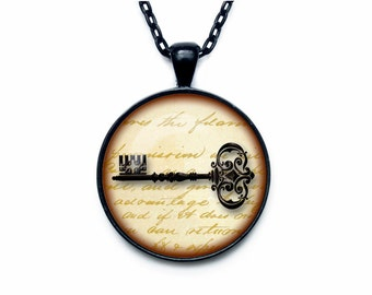 Key to happiness pendant key to my heart necklace key to success jewelry