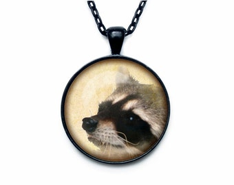Raccoon Pendant  Raccoon necklace  Raccoon jewelry